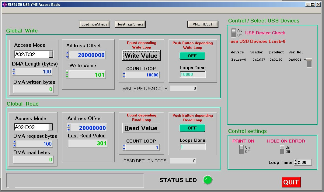 SIS3150 base program screen shot
